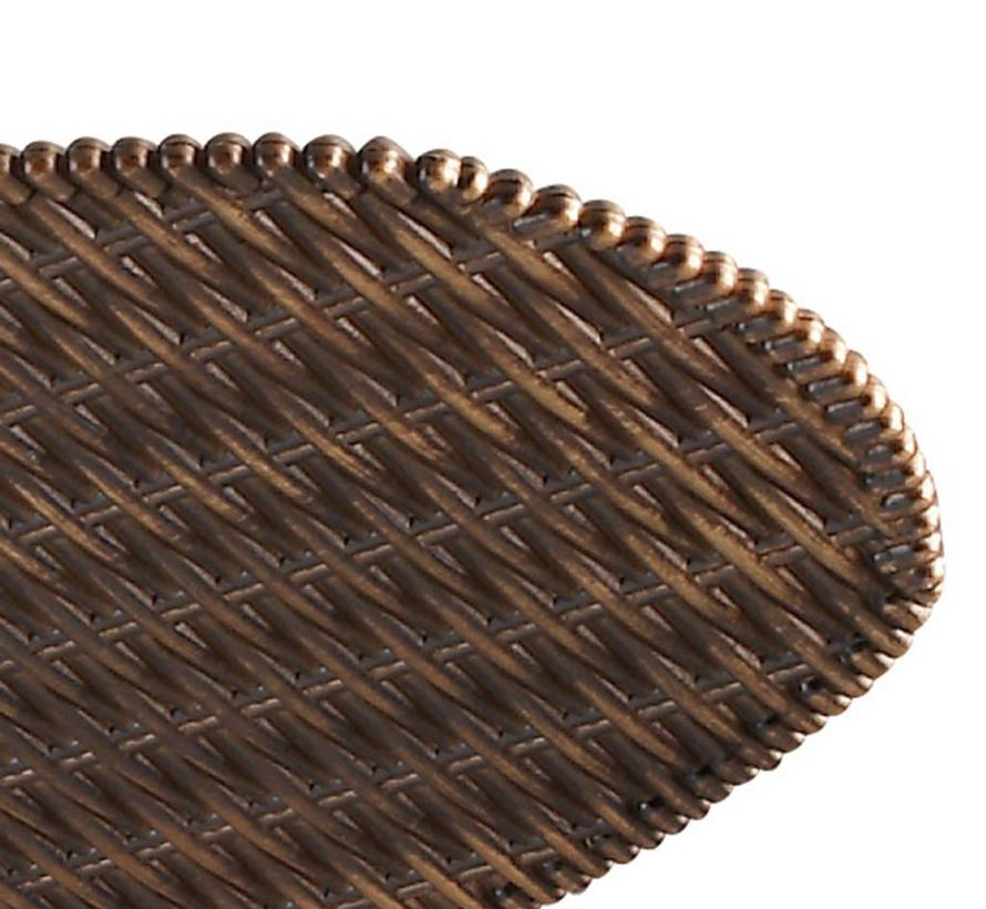 Phuket ceiling fan brown/brown rattan with optional lighting