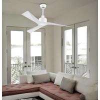 Mogan plafond ventilator in glanzend wit