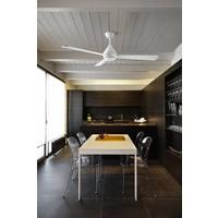Tupai plafond ventilator in satijn nikkel