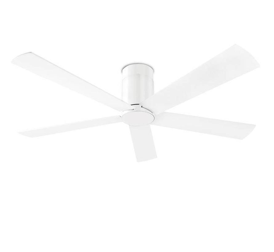 Rodas plafond ventilator in glanzend wit