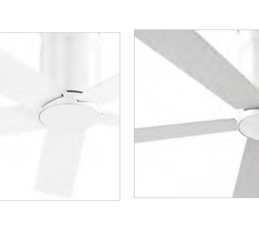 Rodas Ø1320mm fan gloss white with remote control