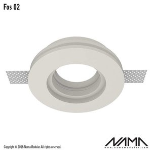 NAMA Fos 02 trimless gips inbouwspot rond voor Ø50mm led