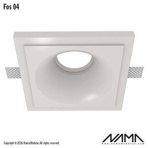 NAMA Fos 04 trimless gips inbouwspot verdiept vierkant voor Ø50mm led