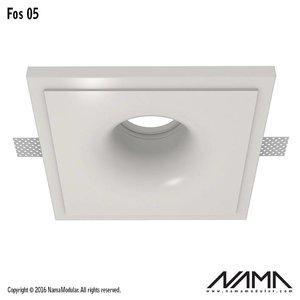 NAMA Fos 05 trimless gips inbouwspot verdiept vierkant voor Ø50mm led