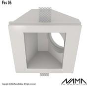 NAMA Fos 06 trimless gips inbouwspot vierkant-schuin