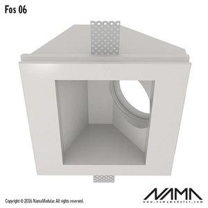 NAMA Fos 06 trimless gips inbouwspot vierkant-schuin voor Ø50mm led
