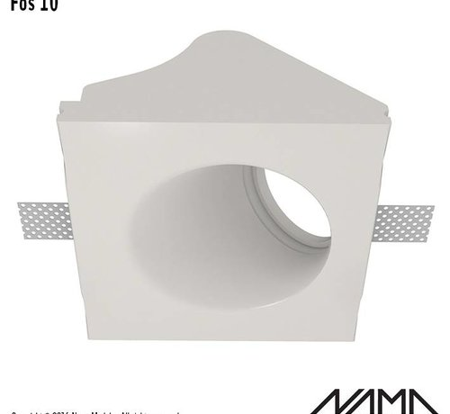 NAMA Fos 10 trimless gips inbouwspot rond-schuin voor Ø50mm led