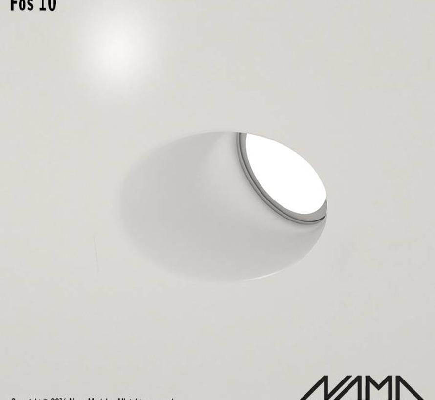 Fos10 trimless recessed plaster downlight round-oblique for Ø50mm led