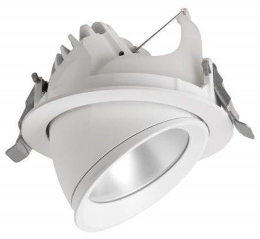 Modena Carlo uitkantelbare led straler 25W-3000K wit