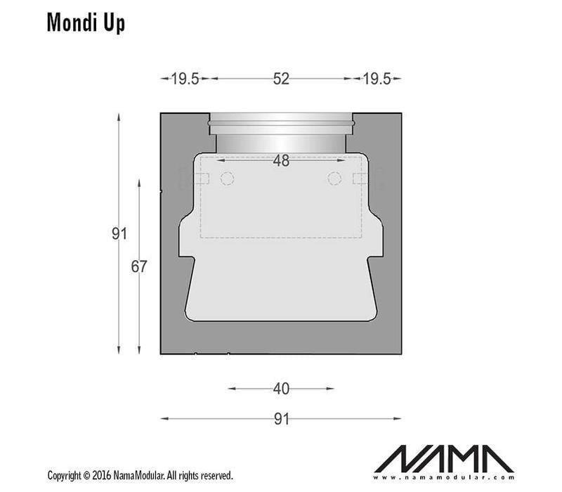 Mondi UP gips led wandlamp 230V-GU10