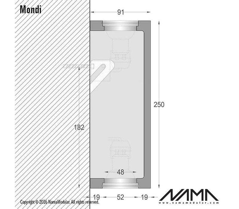Mondi Up-down gips led wandlamp 230V-GU10