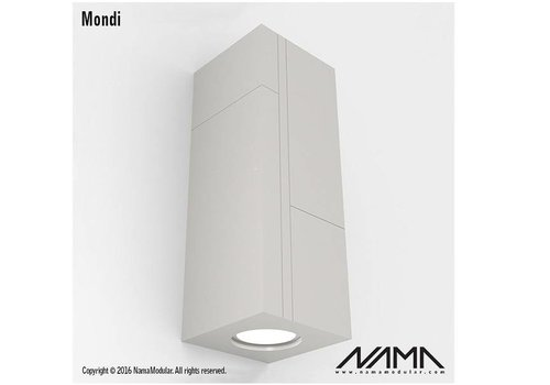 NAMA Mondi Up-down gips led wandlamp 230Volt-GU10