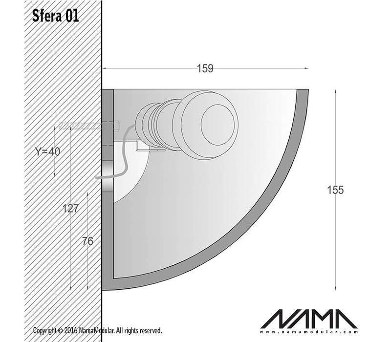 Sfera 01 Up gips led wandlamp 230V-E-27
