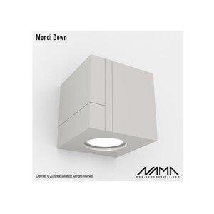 NAMA Mondi Down gips led wandlamp 230V-GU10