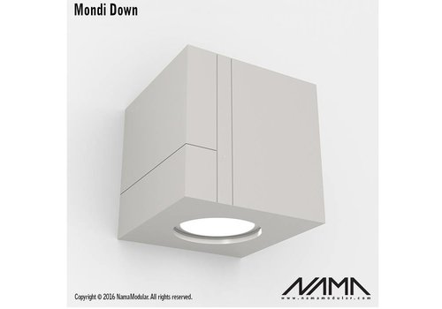 NAMA Mondi Down gips led wandlamp 230Volt-GU10