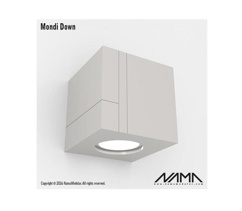 Mondi Down gips led wandlamp 230V-GU10