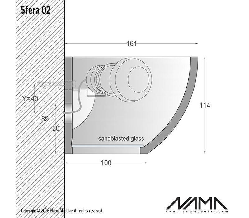 Sfera 02 Up-down gips led wandlamp 230V-E-27