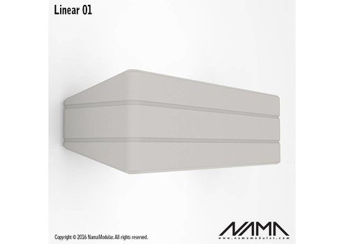 NAMA Linear 01 Up-down gips led wandlamp 230Volt-E-14