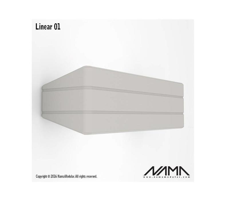 Linear 01 Up-down gips led wandlamp 230V-E-14