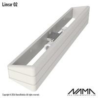 Linear 02 Up-down gips led wandlamp 230V 2xE-14 - Copy