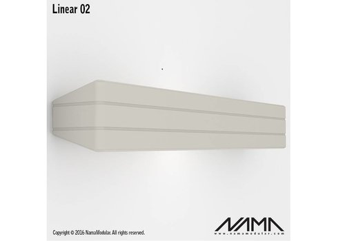 NAMA Linear 02 Up-down gips led wandlamp 230Volt 2xE-14 - Copy