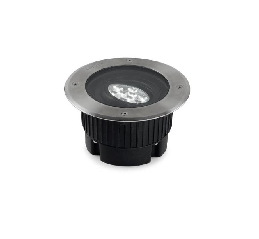 Gea Power Led Uplight ronde grondspot 18Watt richtbaar RVS