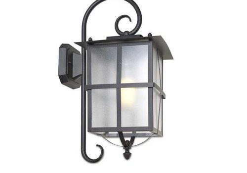 Leds-C4 Rustica outdoor wandlamp rustiek bruin/zwart E-27