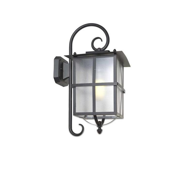 rustica outdoor wandlamp rustiek bruinzwart e 27
