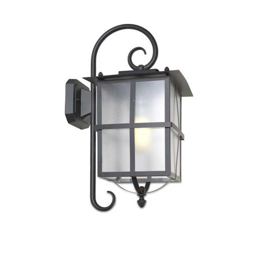 Rustica outdoor wandlamp rustiek bruin/zwart E-27