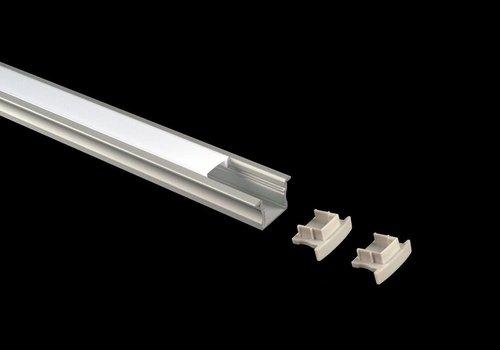 Alupro Curve 15mm Inbouw ledprofiel 200cm, excl cover