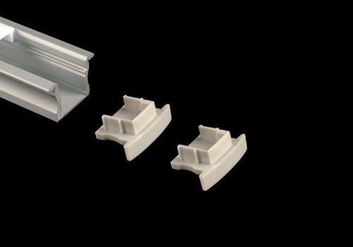 Alupro Eindkappen (2) voor Curve 15mm