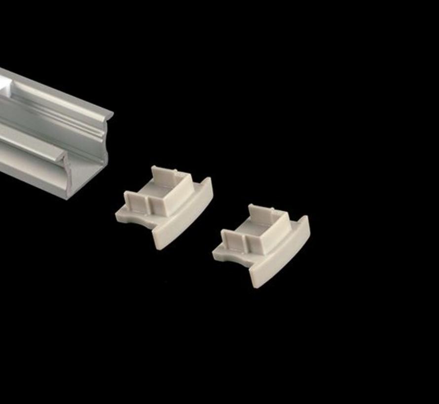Eindkappen (2) voor Curve 15mm