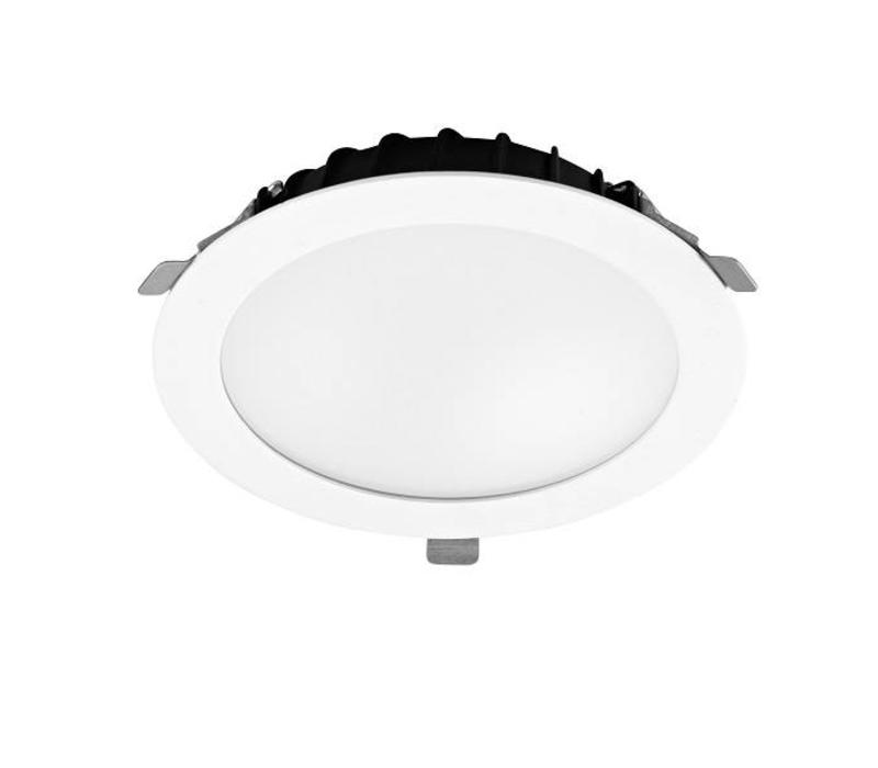 Vol led downlighter 25.4Watt Ø255mm wit/opaal
