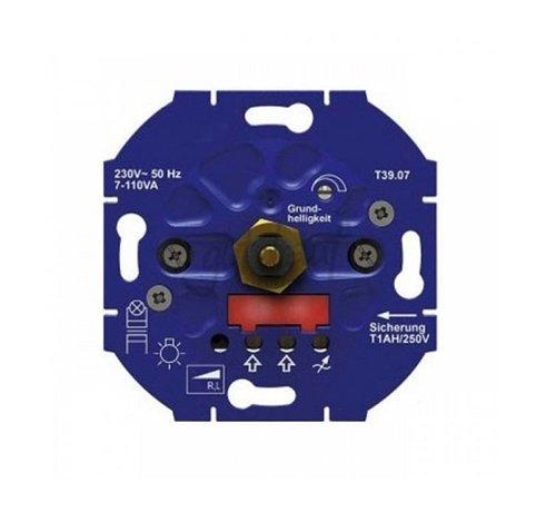 Opus Led muurinbouw dimmer 3-85Watt voor draai-drukknop