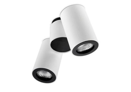 Leds-C4 Pipe opbouwspot LED 2 x GU10 wit/zwart
