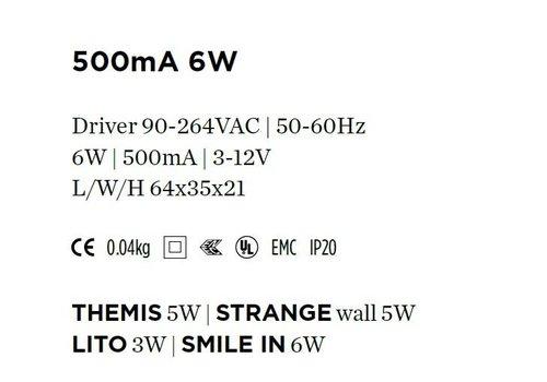 Wever & Ducre Driver 500mA-4Watt niet dimbaar
