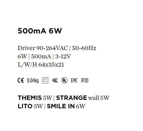 Wever & Ducre Driver 500mA-6Watt niet dimbaar