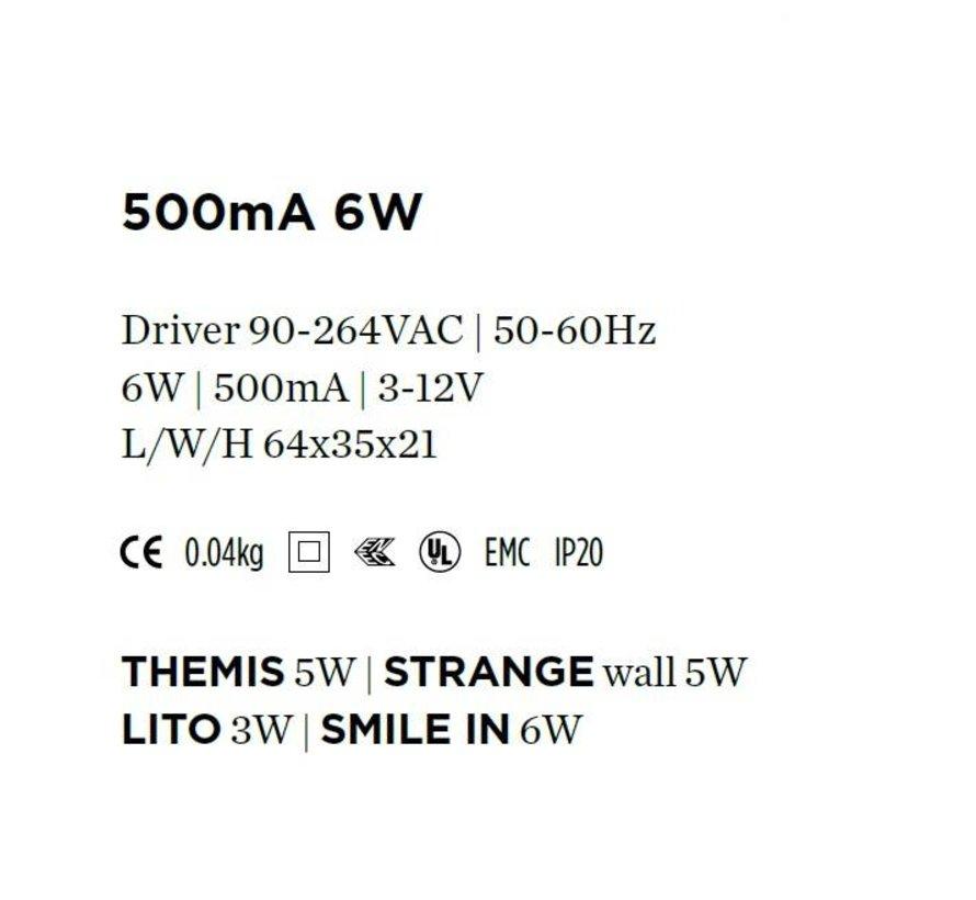 Driver 500mA-6Watt niet dimbaar