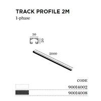 Track 1-fase opbouw 200cm in wit of zwart