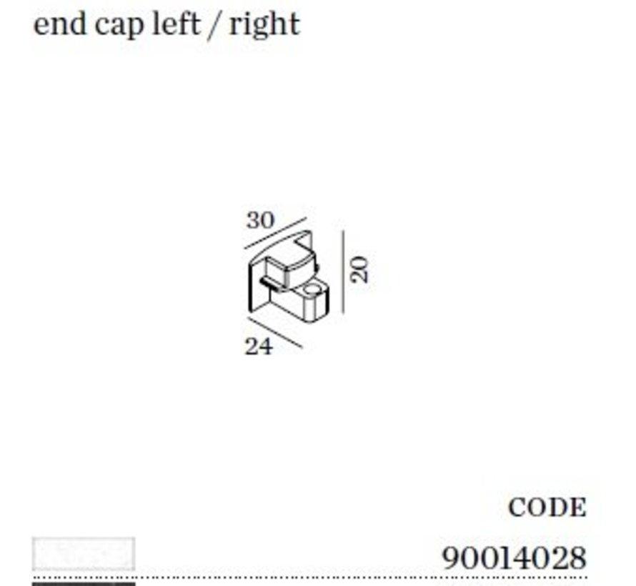 Track 1-fase End Cap (eindstuk)  in wit of zwart