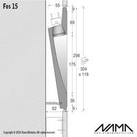 Fos 15 trimless gips led wand inbouw rechthoekig