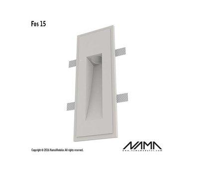 NAMA Fos 15 trimless gips led wand inbouw rechthoekig