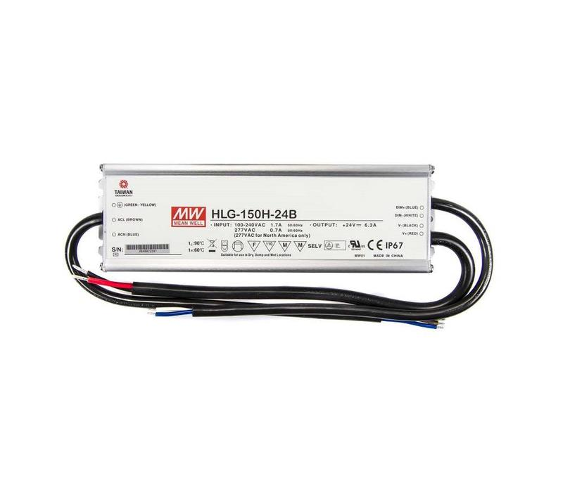 HLG-150H-24B Leddriver 24VDC-150Watt IP67 dimbaar