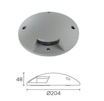 Leds-C4 Xena Surface LED 1-weg 1,5W bollard alu grijs 230V