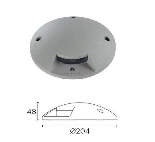 Leds-C4 Xena Surface LED 1-weg 1,5W bollard alu grijs 230Volt