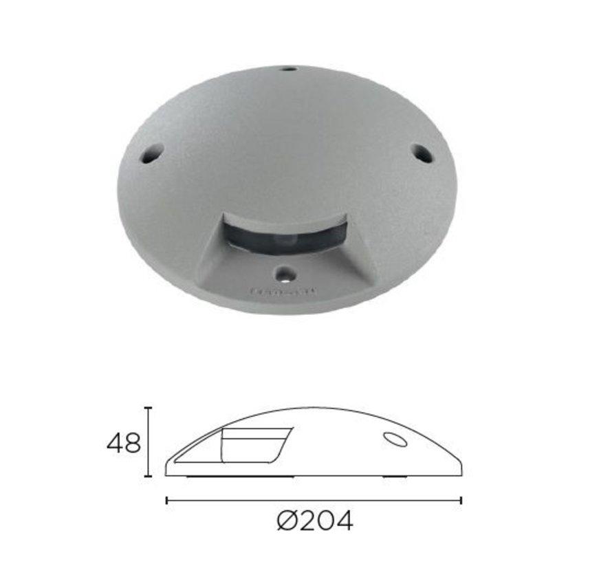 Xena Surface LED 1-weg 1,5W bollard alu grijs 230Volt