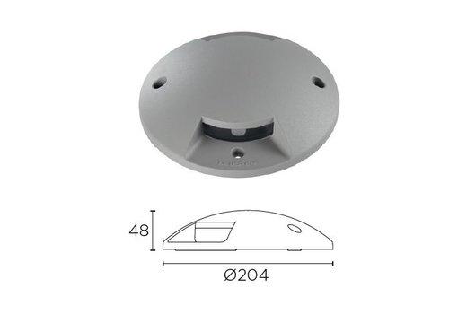 Leds-C4 Xena Surface LED 2-weg 1,5W bollard alu grijs 230V