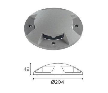 Leds-C4 Xena Surface LED 4-weg 1,5W bollard alu grijs 230V