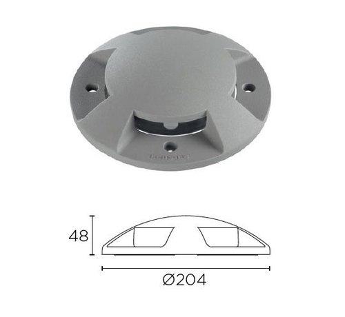 Leds-C4 Xena Surface LED 4-weg 1,5W bollard alu grijs 230Volt