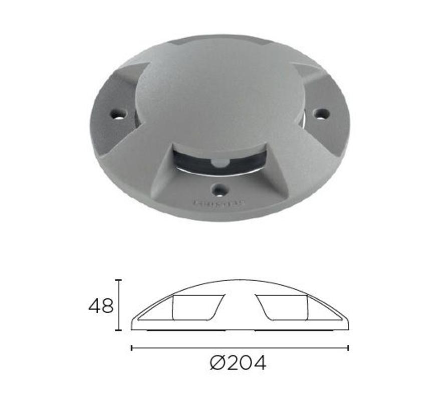 Xena Surface LED 4-weg 1,5W bollard alu grijs 230Volt